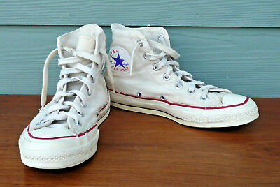 25c6eb0899e5 VINTAGE CONVERSE ALL STAR Chuck Taylor 1960 s 70 s Blue Label Shoes Made In  USA