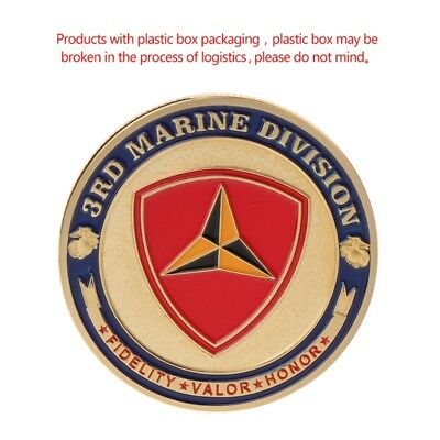 Marine Corps 3rd Marine Division Commemorative Coin Collection Art Souvenir Gift