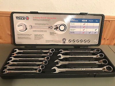 Matco Tools - 10 Piece 90 Tooth Extra Long Metric Reversible Ratcheting Wrench S