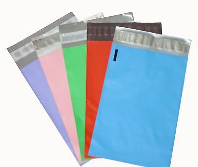 """20 Poly Mailers Envelope Shipping Supply Bags 6x9"""" multi color (4/COLOR)"""