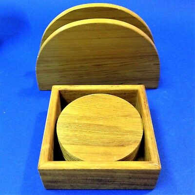 New Zealand Wood - Boxed Set 6 Coasters & Matching Napkin Holder
