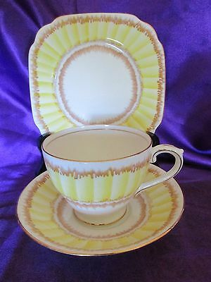 Art Deco Bell China  trio c-1940,s,Hand painted Bell china trio
