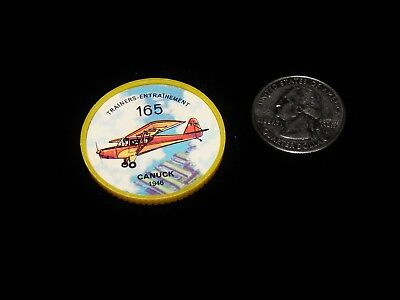 Vintage Plastic Coins, 1960'S JELLO/HOSTESS AIRPLANE TOKEN, 1946 Trainer, Canuck
