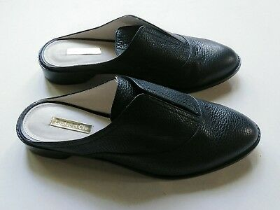 5ed63e128e3 LOUISE ET CIE Womens Size 8 M Lo-Freyda Slip On Mules Black Leather Low  Heel -  29.99