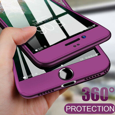 Luxury 360° Hybrid Case for iPhone 7 7Plus Hard Back Cover for iPhone 6 6s 8Plus