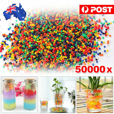 50000pcs Crystal Water Balls Jelly Gel Beads for Vases Orbeez Toy MultiColor AU