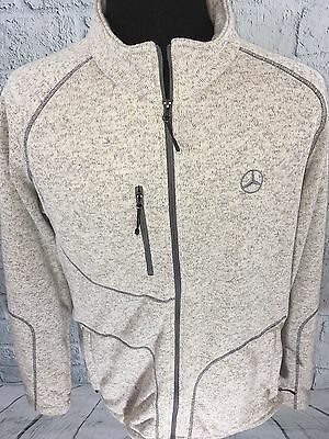 Genuine Mercedes-Benz Lifestyle Collection Men's Knit Fleece Sweater Full Zip L
