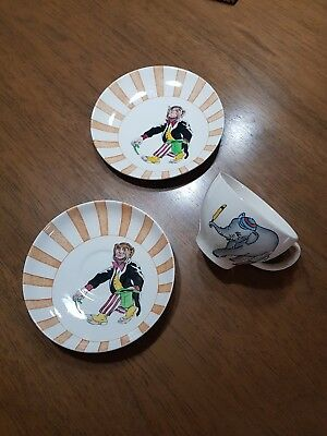 Masons Hand- Painted Circus Land China x3 Pieces... Vintage/Rare