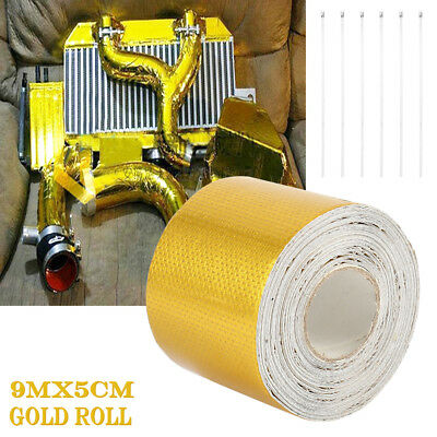 2''x354'' Roll Heat Shield Wrap Tape Adhesive Reflective Gold High Temperature