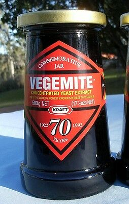Vegemite - Extremely Rare as Never Opened - 70 years Commemorative Jar.