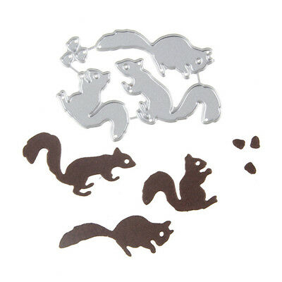Christmas Squirrel nuts Set Cutting Dies For Scrapbooking Card Craft Decor WH