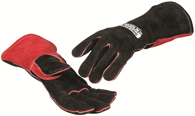 Lincoln LEATHER WELDING GLOVES 1Pair Small, Sweat Absorbent Cotton Lining