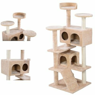 Multi Level Cat Play House Scratching Tree Post Bed Kitty Condo Climbing Pole