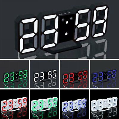 LED Digital Large Big Jumbo Snooze Wall Room Desk Calendar Alarm Clock Display U