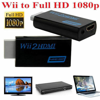 Wii Input to HDMI 1080P HD Audio Output Converter Adapter Cable 3.5mm  Audio DD