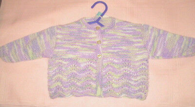 Handmade Knitted Baby Jacket in Bella Baby Bashful 4ply yarn J403