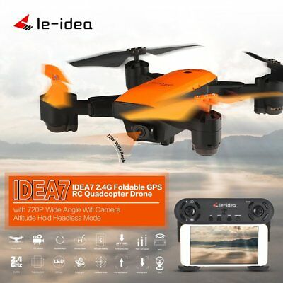 Le-idea IDEA7 RC Foldable Quadcopter 720P Wide Angle Camera GPS Altitude Hold NS