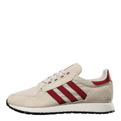brand new 8694f d5704 New Mens adidas Forest Grove Trainers - Chalk Pearl  Burgundy Textile