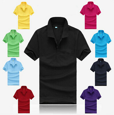 Sports T Shirt Casual Men's Slim Fit Short Sleeve T Shirt Polo Tee Cotton Hot