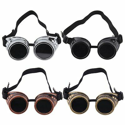 New Goggle Cyber Steampunk Glasses Vintage Retro Welding Punk Gothic NS