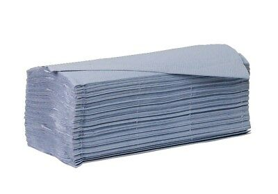Blue Interleaved Paper Hand Towels Case of 5000 Saver 1ply 40gsm Bathroom Clean