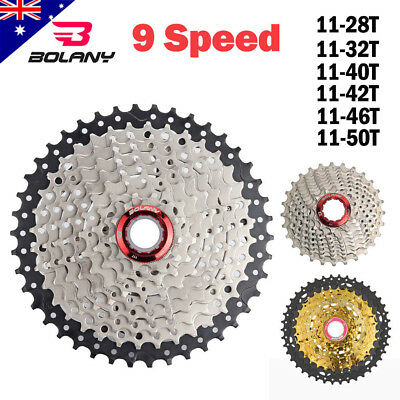 BOLANY 9 Speed 11-28T/11-32T/11-40T MTB Bike Cassette Mountain Bicycle Freewheel