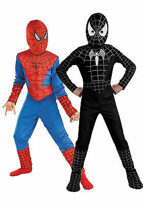 Kids Boys Child Spiderman Fancy Dress Costume Cosplay Halloween Outfits 3-7Years