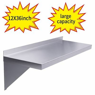 Floating Wall Shelf 12 X36 Stainless Steel Restaurant Bar Cafe Kitchen Storage