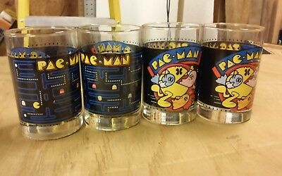 Lot of 4  PAC-MAN glasses. 1980 BALLY MIDWAY (ARBY's)- Vintage