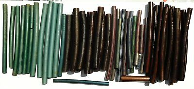 Lot Several RODS / STICKS of Old Galalith  Diam 12 to 18 mm