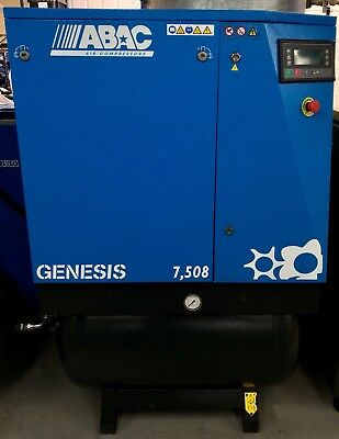 ABAC Genesis 7.508 Receiver Mounted Rotary Screw Compressor, With Dryer! 42Cfm!