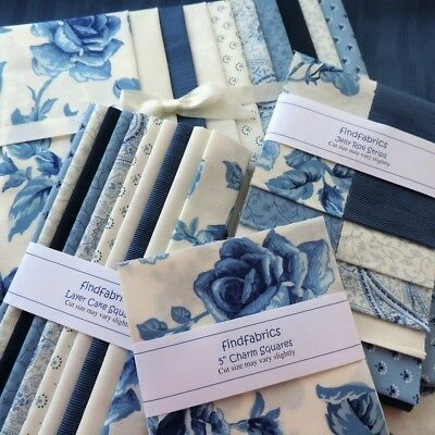 "Regency Blues Pre-Cuts ~ 5"" Charm ~ 10"" Layer Cakes ~ Jelly Roll & Fat Eights"