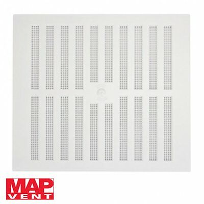 ADJUSTABLE HIT & MISS AIR VENT White Plastic Wall Ventilation Airing Slide Grill