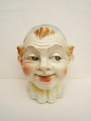 ancien tirelire en barbotine a casser tete de clown saint clement keller guerin