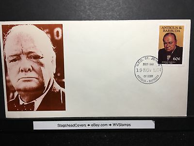 Antigua & Barbuda FDC 19 Nov 1984 Winston Churchill 1874-1965