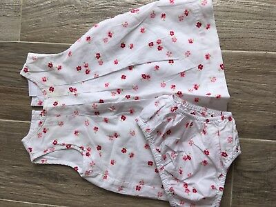 dc6795595 The Little White Company Baby Girls Flower print dress (&pants) Size 3-6