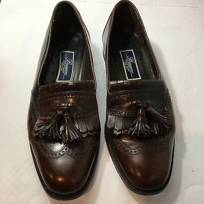 889ecd19ccc Cole Haan Bragano Mens 11 M Brown Leather Kiltie Tassel Loafers Made In  Italy
