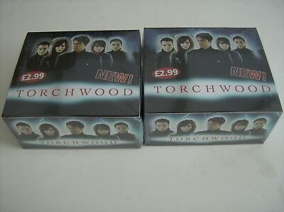 Torchwood Trading Cards-2 X Sealed Boxes-32 Packs Per Box-9 Cards Per Pack.