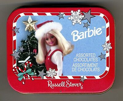 """Vintage Russell Stover - """" Barbie """" Christmas Candy Tin -1998"""