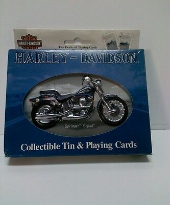 Harley Davidson  Collectible Tin and Playing Cards ,New