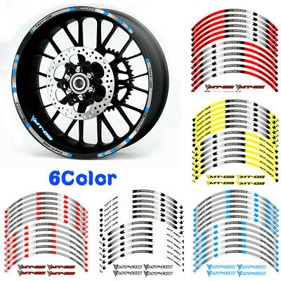 20 colours 850 mt09 abs sport tracer YAMAHA MT-09 wheel rim stickers decals