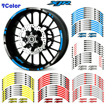 For Yamaha Xjr 1300 400 1200 Motorcycle Rim Stripes Wheel Decals Tape Stickers