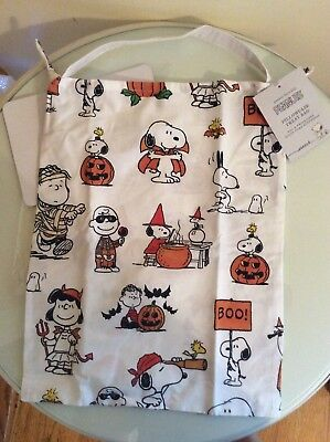 Pottery barn Snoopy peanuts Pillowcase Trick or Treat bag halloween toddler NEW