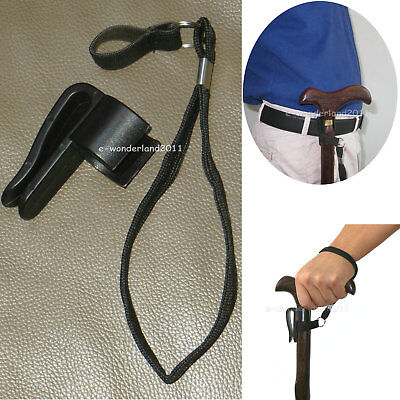 """Walking stick Cane Holder and wrist strap Fit walking sticks and canes in 7/8~1"""""""