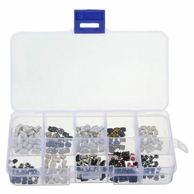 250 pcs Tactile Push Button Switch Momentary Tact Assortment Kit S7Q8