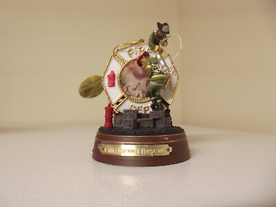 BRADFORD EXCHANGE Courageous Rescue Heroic Firefghters Ornament Collections 2002