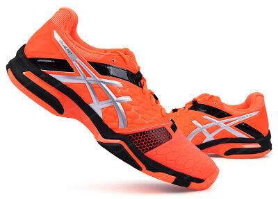 ASICS GEL BLAST 7 Men's Badminton Shoes Sports Indoor Neon Orange NWT E608Y 3093