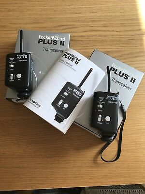 2 X Pocktwizard Plus II Transceiver!!