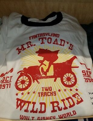 MR. TOAD'S WILD RIDE DISNEY STYLE T-Shirt Parks S M L XL XXL Toad Ringer Tee