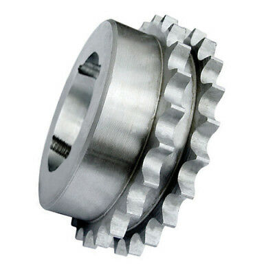 "62-19 (12B2-19) 3/4"" Pitch Steel Taper Lock Duplex Sprocket, With 19 Teeth, Suit"